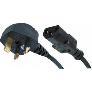 agagadgets Neue Netzkabel UK Stecker auf IEC Kabel (PC Netzkabel) C133m