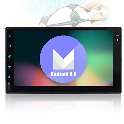 Android 6.0 Doppel-DIN-GPS-Satelliten in der Schlag-Autoradio 7-Zoll-Screen-Auto-Stereo GPS Navigation Freih?ndige Bluetooth-Unterst¨¹tzung Audio Video USB / SD Spiegel Link-Lenkrad-Steuerung Automotive Head Unit