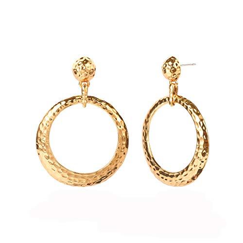 (BURFLY Retro geometrische Ohrringe für Damen, unregelmäßige Ohrringe für Damen, einfache ethnische Windohrringe)