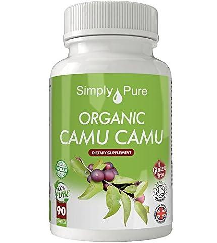 NEW Organic Camu Camu 90x Capsules 100% Natural Soil Association Approved 500mg
