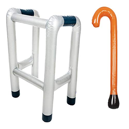 Toyvian 2 unids Inflable Zimmer Frame Walking Stick