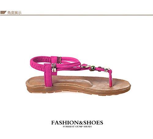 Gaorui sandales pour femme strass dianetten eté plage-blanc noir rouge sandales pour femme Blanc