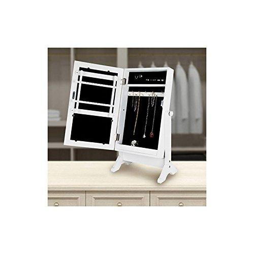 Genérico Gartengarnitur-Standspiegel mit Schmuckschrank, Weiß