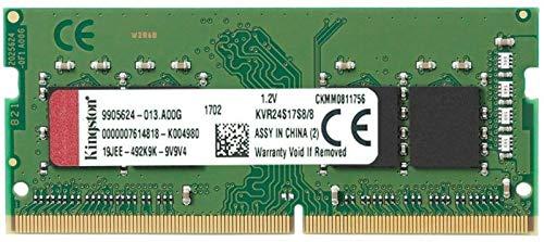 Kingston ValueRAM 8GB 2400Mhz DDR4 Non-ECC CL17 SODIMM 1Rx8 (KVR24S17S8/8)