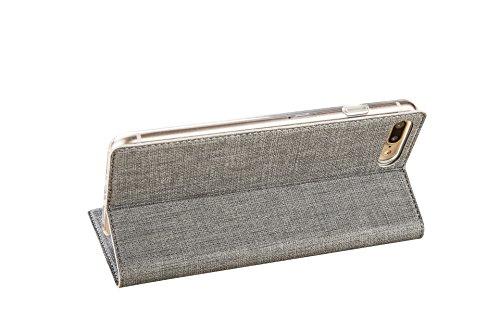 iPhone X Caso, Moda Giovanile Colore + PU pelle TPU Guscio morbido + slot per schede E supporto Adatto per iPhone X (5.8-Pollici Oro) Grigio