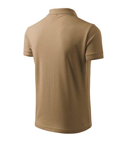 Herren Polohemd / Poloshirts Pique Polo klassisches Polohemd Sand