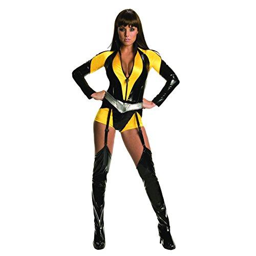 Watchmen Silk Spectre Kostüm Damen 3-tlg. Overall, Gürtel, Stulpen schwarz gelb - ()