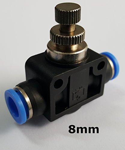 Drosselrückschlagventil mit Steckanschluss - Schnellsteckverbinder - PUSH IN ( 8mm )