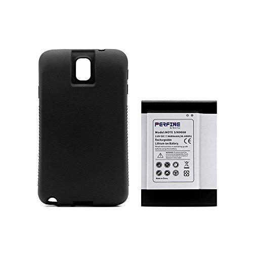 Perfine Galaxy Note3 Batería [9600mAh] Ampliada para Note III Galaxy N9000  N9005 N900A N9002 Batería Repuesto con Completo Borde Protección de TPU