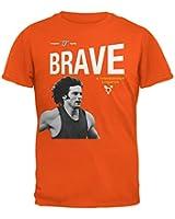 Bruce Jenner Brave Cereal Box - Orange Adult T-Shirt