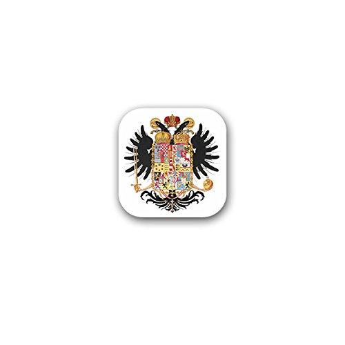 Copytec Aufkleber/Sticker -Kaiser Joseph II 1765 Fürst Josip Josef Habsburg Lothringen Kaisertum Kaiserreich Heiliges Römisches Reich Doppelkopfadler Wappen Abzeichen 7x7cm #A3214 Reich Bund