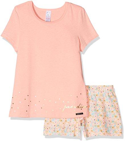 Skiny Mädchen Zweiteiliger Schlafanzug Lovely Dreams Sleep Girls Pyjama Kurz, Rosa (Vibrant Pink 9230), 128 (Sommer-pyjama)