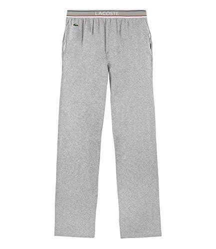 Lacoste Herren Pyjamahose lang Homewear Lounge Pant 160574, Farbe:Grau, Größe:M, Artikel:-202 Grey Melange