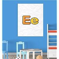 Alphabet E Nursery Children Educational Early Learning Poster Print Wall Art preiswert