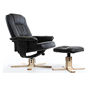 idimex fauteuil de relaxation charly avec repose pieds pouf si ge pivotant dossier inclinable. Black Bedroom Furniture Sets. Home Design Ideas