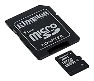 Kingston SDC4/8GB Memoria MicroSDHC con Adattatore SD, 8 GB, Class 4