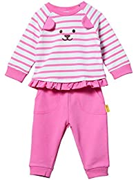 Steiff Set Pants + Sweatshirt, Conjunto Bebé-para Niñas