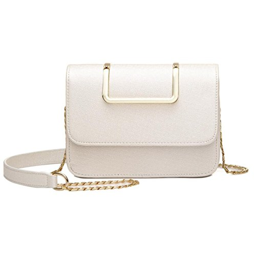 Wu Zhi Borse New Shoulder Fashion Messenger Chain Package Piccola Borsa Quadrata Bianca