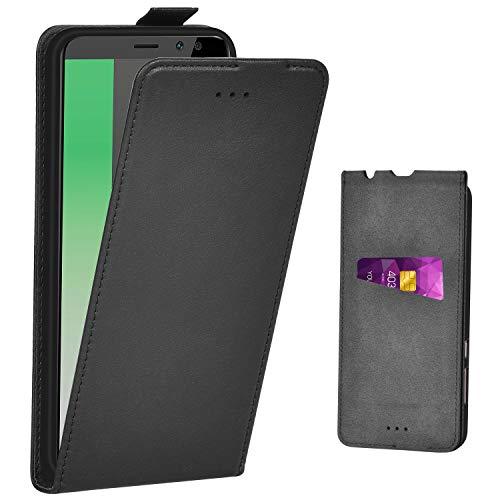 Adicase Huawei Mate 10 Lite Hülle Leder Tasche für Huawei Mate 10 Lite Handyhülle Flip Case Schutzhülle (Schwarz)