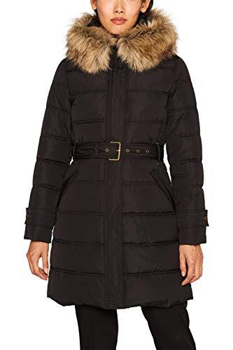ESPRIT Damen 099Ee1G007 Mantel, Schwarz (Black 001), Medium (Herstellergröße: M)