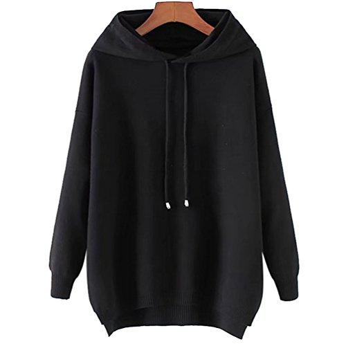 YiLianDa Femmes de Long Hoodie Sweatshirt pull Pullover Tops Blouse à manches comme image(1)