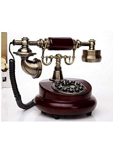 CN Teléfonos con Cable Creative Vintage Botón de Marcación de Teléfono Antiguo Idílico Teléfono Retro Teléfono Fijo Fijo en la Oficina Teléfono Fijo,UNA,Un tamaño