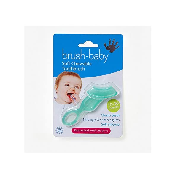 Brush-Baby Chewable Toothbrush (Teal)