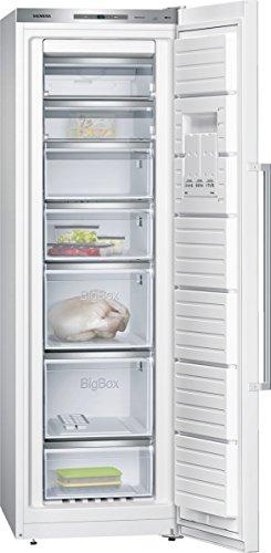 Siemens GS36NAW40 iQ500 Gefrierschrank / A+++ / 186 cm Höhe / 156 kWh/Jahr / 237 L Gefrierteil / Super Freezing