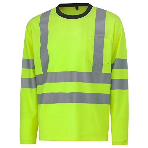 Helly Hansen Workwear Warnschutz Langarmshirt Kenilworth Cl 3 HiVis, XXL, gelb, 79059