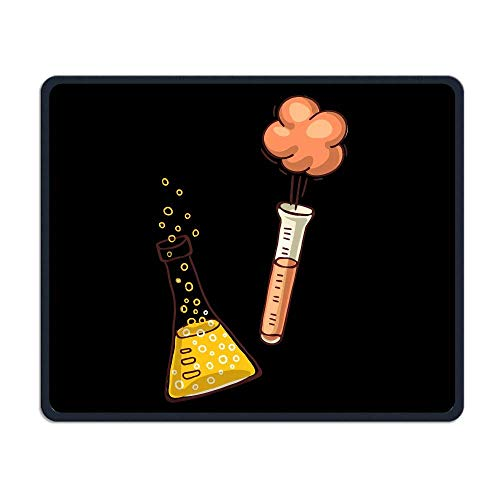 Deglogse Gaming-Mauspad-Matte, Smooth Mouse Pad Test Tube Explosion Mobile Gaming Mousepad Work Mouse Pad Office Pad