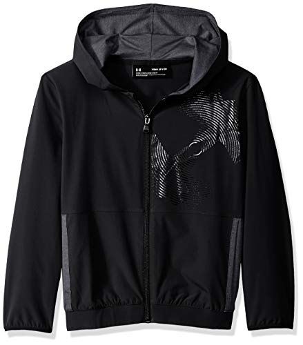 Under Armour Jungen Woven Warm Up Jacke Oberteil, Black, YXL Woven Warm Up Jacket