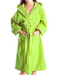 Arus - Albornoz niños con capucha para niñas y niños, 100% algodón ...