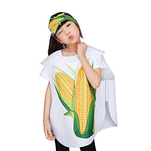 chte und Tier Kostüme Anzüge Outfits Kostümfest Party Kostüm für Jungen und Mädchen Kinderkostüm, Mais, S(56cm*55cm) (Kinder-frucht-kostüm)