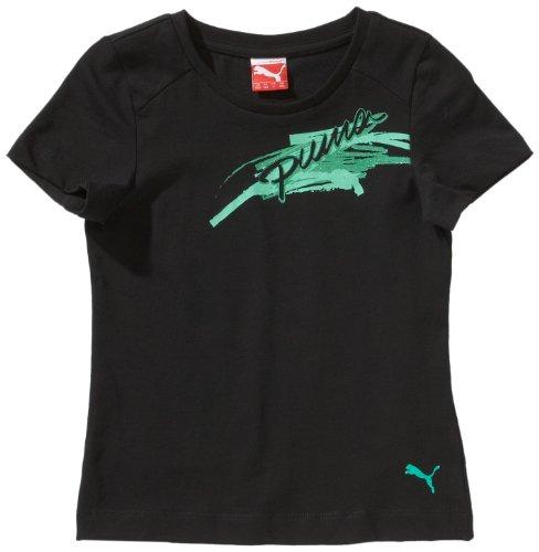 PUMA Mädchen T-Shirt Graphic, black, 176, 824249 04