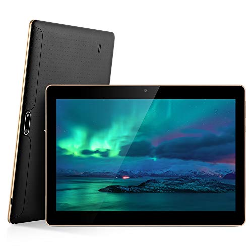 Android Tablet PC, 10.1 Zoll Bildschirm Tablet-PC mit Dual-SIM Karte, 2GB RAM, 32GB Speicher, 1280*800 Full HD IPS Touchscreen WiFi/ WLAN/ Bluetooth 4,0 (Schwarz)