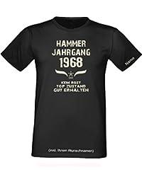 Geburtstagsgeschenk Geschenk zum 49. Geburtstag das Jubiläums T-Shirt =Hammer Jahrgang 1968 Sprüche T-Shirt mit Wunschname!