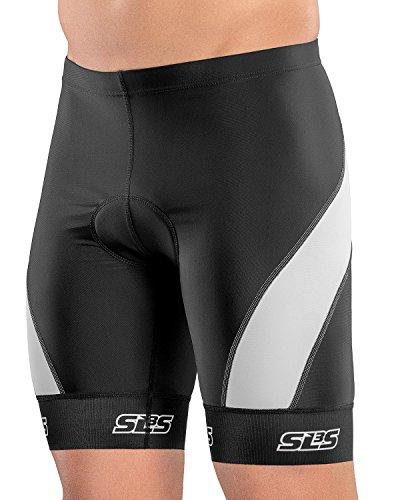 SLS3 Triathlon Hose Herren   1 Tasche   FX Z Tri Shorts   Schwarz (Black/Grey, M)