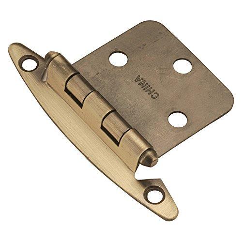 Hickory Hardware P139-AB Semi-Concealed Flush Mount Hinge, Antique Brass by Hickory Hardware (Flush Mount Hinge)
