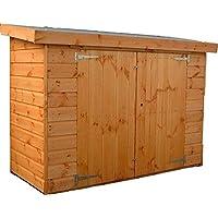 Tienda de tiendas al aire libre Jardín de madera jardín de almacenamiento cobertizo,Brown