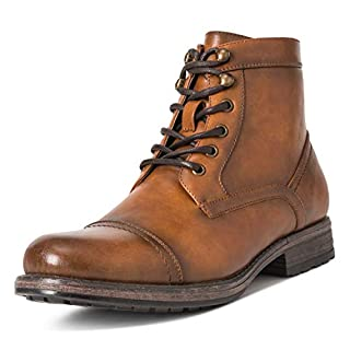 Mens Queensberry Albert Smart Leather Business Work Office Ankle Boots - Brown - EU44/ UK10 - QB0019