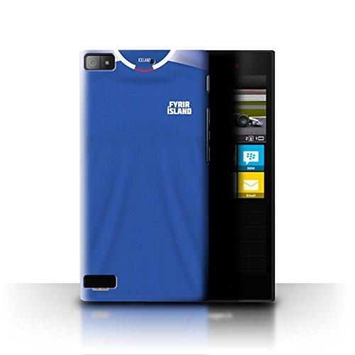 Stuff4® Hülle/Case für BlackBerry Z3 / Island/Isländisch Muster/Weltmeisterschaft 2018 Fußball Trikot Kollektion