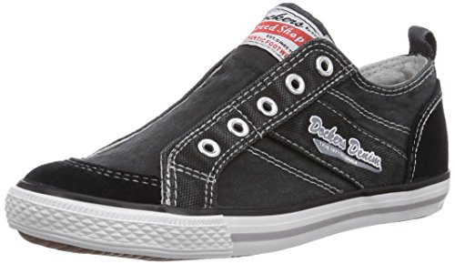 Dockers by Gerli 36VC601, Low-Top Sneaker unisex bambino Nero (Nero (Nero 100))
