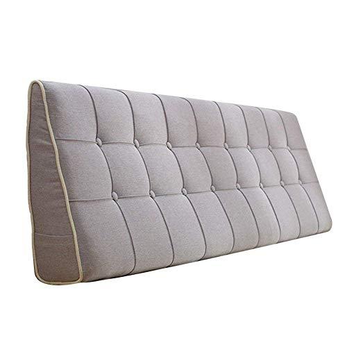 Jcpsh schienale del cuscino da comodino, schienale multi-funzione senza testiera letto di lino imbottitura a zeppa serie di spalliera letto matrimoniale, 7 colori, 7 formati