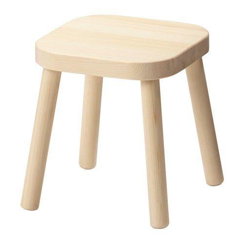 IKEA FLISAT Kinderhocker aus Massivholz; (31cm)