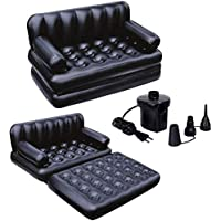 gopinathji shop Air Sofa Bed 5 in 1 Inflatable Couch with Electric Pump (Black)
