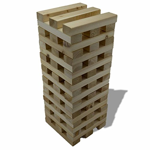 Kingfisher Giant Tower Wooden Blocks Outdoor Garden Family Fun Game | 3+