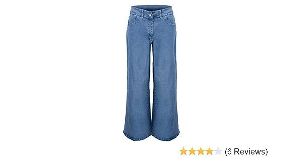 37ddbdafe3e Clove Women Jeans Hippie Bell Bottom Flare Light Snow Blue Denim Size 14-24   Amazon.co.uk  Clothing