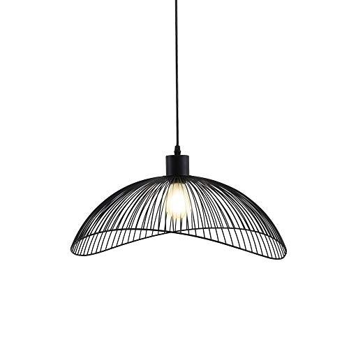 Briloner Leuchten Pendelleuchte Schwarz, Deckenlampe Retro, Deckenleuchte Metall, E27; Ø50,2,