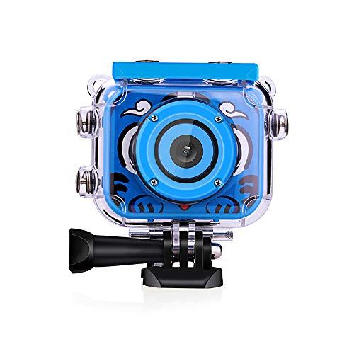HKANG Kids Waterproof Camera Self Timer Camera Video Recorder Camcorder 2,7 Zoll LCD Screen 8X Digital Zoom Flash Mic Girls Boys,Blue Zoom Lcd Flash