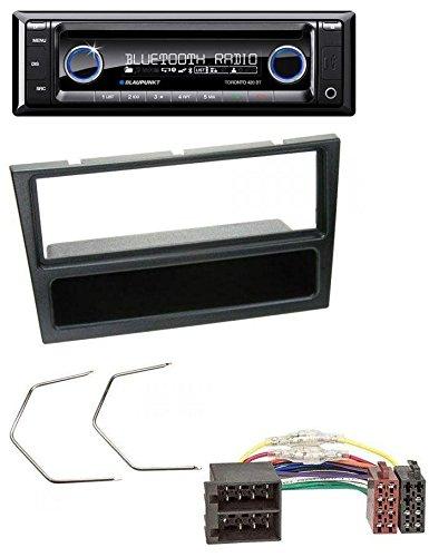 Combo Lautsprecher Und Auto Subwoofer (Blaupunkt CD MP3 USB SD Bluetooth AUX Autoradio für Opel Corsa C Combo Meriva Omega B Vectra C ISO schwarz)